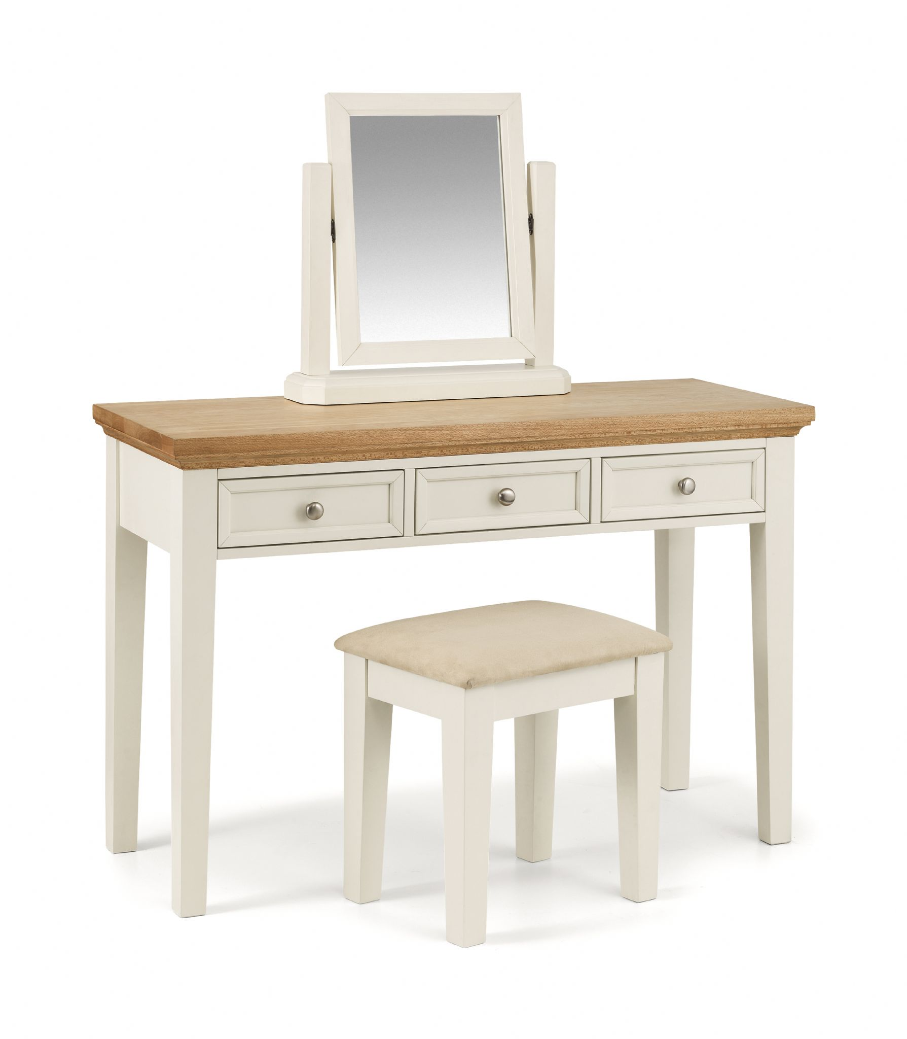 Modern White Dressing Table: Syracuse Modern Stone White Dressing Table JB426